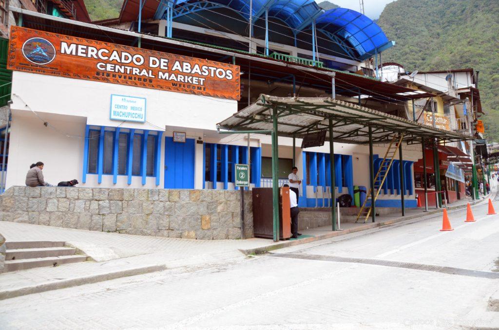 Ponto do ônibus para Machu Picchu