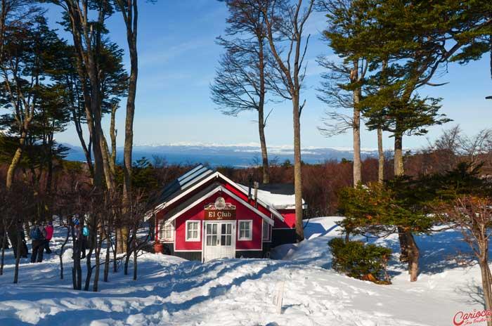 Vista do La Cabana Casa de Te Glaciar Martial