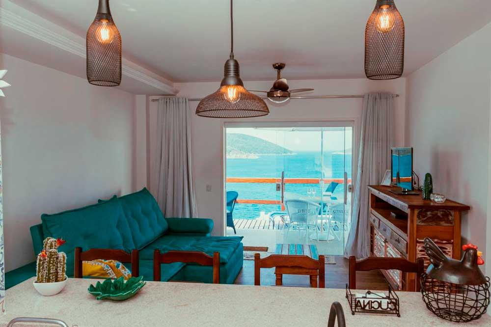 Sala de estar Casa Mar da Grécia